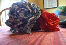 ribbon/organza roses