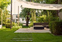 tuinontwerp - tuinaanleg moderne tuinen [groot] / Prachtige grote moderne tuinen die door BUYTENGEWOON zijn ontworpen en/of aangelegd. www.buytengewoon.nl