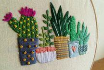 Bordado cactus/suculentas