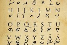 Runes, sigils, glyphs