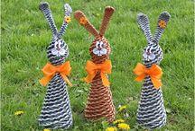Velikonoční pletení z papíru