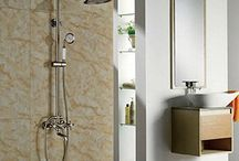 GOWE Bath Rainfall Shower Set Brushed Nickle Shower Faucet With Hand Shower Mixer Tap