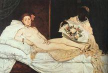 """Impresjonizm / 1874 - XXw. nurt w sztuce europejskiej dążący do oddania ulotnych momentów. Impresjoniści propagowali malowanie w plenerze, z czego wynikał szkicowy charakter ich pracy, oraz stosowali wiedzę (często intuicyjnej) na temat koloru i fizjologii widzenia. Termin impresjonizm wywodzi się od płótna Claude'a Moneta, p.t. """"Impresja-wschód słońca""""  Za początek impresjonizmu uznaje się I wystawę grupy artystów zorganizowaną w atelier fotograficznym Feliksa Nadara w 1874 roku."""