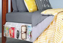 Home Essentials / Space saving and convenient things for your dorm room or living space.