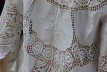 ткань, кожа + вязание