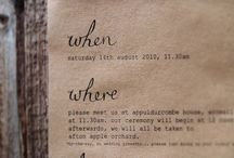 Inspiration save the date & wedding invite