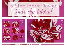 Flower Power / Fabric and ribbon hair bows, clips, and headbands / by Sheila Guiler