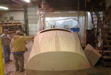 Wooden motorboat