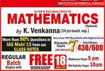 IAS/IFoS Mathematics Workshop / by Ims New Delhi