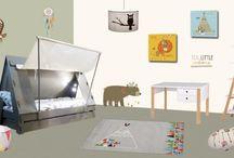 Chambre enfant indien / décoration et mobilier pour la chambre d'enfant sur le thème Indien
