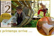 Le printemps en Lozère / Découvrez nos offres de printemps pour passer un séjour à l'Hôtel Les 2 Rives en Lozère.