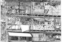 Mijn nomadische TEKENINGEN & schilderijen / My nomadic DRAWINGS & paintings