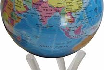 Globe Collection / Our range of Gemstone Globes and amazing Mova Globes