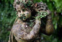 Steinfiguren Garten