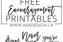 Encouragement Printables