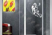 adesivo per doccia / adesivi per doccia, creati in materiale specifico, lavabile e di facile applicazione.