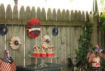 4th Of July ♡ Sweet Tables & Ideas / usa themes party inspiration