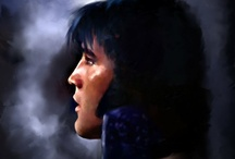 Elvis Presley Art / An artist's impression of the King of Rock 'N' Roll.