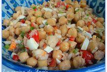 Ensaladas legumbres frescas