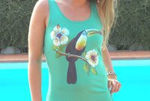 Le Chat c'est Chic hand painted summer apparel