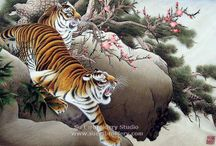 Рисунки тигра.