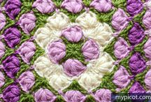 Puntadas fantasía en crochet