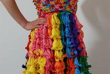 Vestidos reciclaje