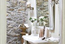 muro salone pietre