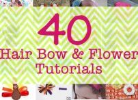 hair bows & flowers