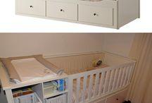 sänky + vauva