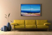 art | paintings | abstract | landscape | seascape / feel the massive energy of the blue sea and admire the beauty of the landscapes