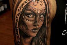 Tetování Ve Stylu Cukrovinkových Lebek