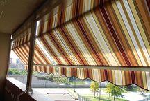 Tenda a veranda con frangivento sul telo estivo www.mftendedasoletorino.it
