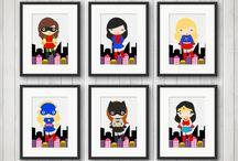 Girl Superhero Room Decor