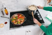 Cooking with Frigidaire / Our time-saving ranges, wall ovens, cooktops and microwaves make it easy to quickly create delicious meals for your family. Plus, they help you save time with clean-up. / by Frigidaire®