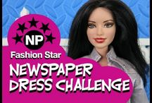 Newspaper Doll Dress Challenge / by Lolas Mini Homes