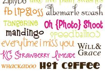 Fonts and backgrounds