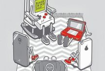 30th Birthday Party Ideas / Glow in the Dark or Old School Video Game Party / by Nichole Obey
