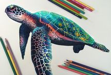 Colored pencils artworks