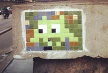 space invaders et autres street art