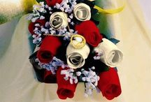 Scented Wax Roses / These wooden scented wax roses come in 16 color choices and 4 scents including unscented. A dozen is $37.99 plus $7.99 shipping, / by Hanny's Gift Gallery