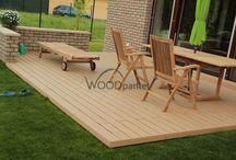 Terasa z dřevo-plastu / Montaz terasy z materialu drevo/plast #woodparket #realizace #terasy #zahrada #dřevo #wpc