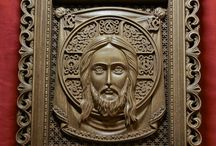 Wood carving icon