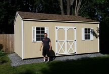 Shed Kits - Built On Location / A few recent Garden Sheds built on location due to backyard fences and city lots. Contact us to have your shed/workshop built today! 1-888-290-8277
