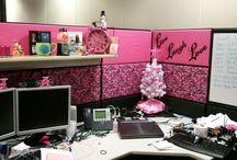 Office Cubicle Makeover!! / by Rachael White-Bryant