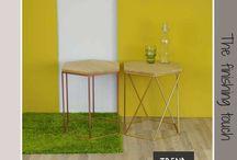 Nº Twee tafeltjes van Trend100.nl / Bijzettafeltjes van Trend100.nl zijn van hoge kwaliteit en duurzaam geproduceerd in Nederland. De tafeltjes kunnen in allerlei kleuren en samenstellingen.