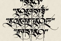 ...calligraphy, typography