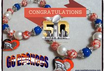Sports Team Bracelets / Some of my themed charm bracelets for various sports teams.