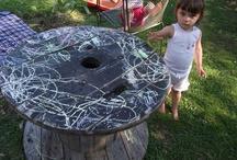 Trädgårdsinredning för barn