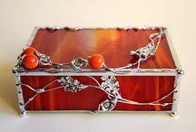 Szkatułki na biżuterię - Jewellery Box / Jewelery boxes made of stained glass - Szkatułki na biżuterię wykonane ze szkła witrażowego
